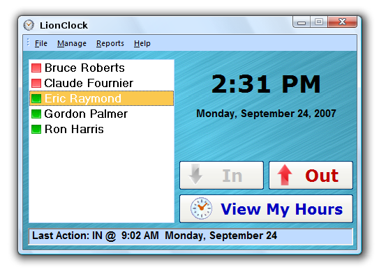 Click to view LionClock 3.56 screenshot